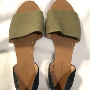 Madewell Shoes - Madewell Thea olive navy colorblock sandals